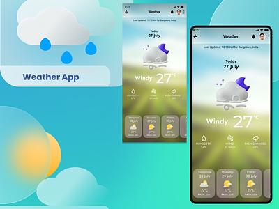 Glassmorphic Weather App Design weather app figma ux graphic design glassmorphism glassmorphic ui design ui