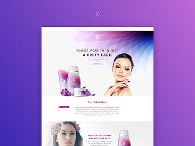 Skincare Shop theme one-page single-product skincare