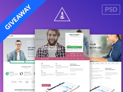 GIVEAWAY Startuprr HighConversion Landing Page PSD Templates By - High converting landing page templates