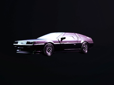 The Delorean nfts nft mcfly destruction after effects octanerender daily iridescent octane back to the future car delorean cinema 4d animation 3d