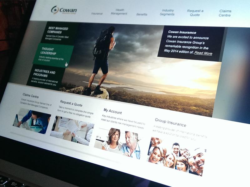 Cowan web design insurance