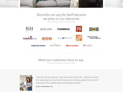 Decorilla responsive page landing saas design web