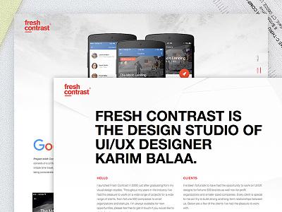 Portfolio website fresh karim design web portfolio