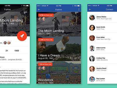 Nasa App material design mobile application time travel nasa