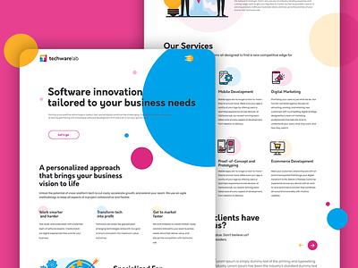 Techware Lab - Landing Page landing page design landing page landingpages uiuxdesign website design web design corporate rebranding design branding
