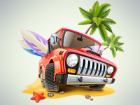 Summer Jeep Icon