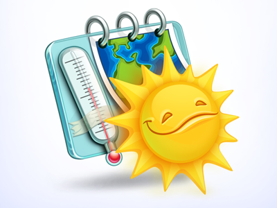 Meteo Icon weather meteo thermometer icon forecast sunny