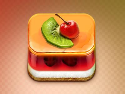 Jelly Cake icon app iphone jelly cake food cherry ios