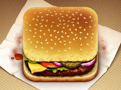 Hamburger App food hamburger app icon iphone ios