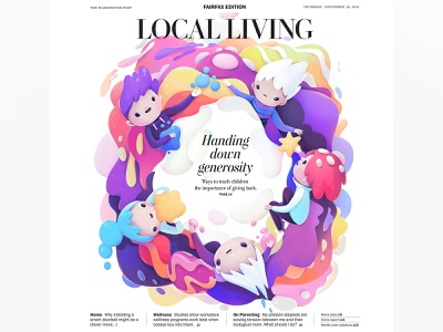 The Washington Post cover publication cover design character abstract illustration zutto