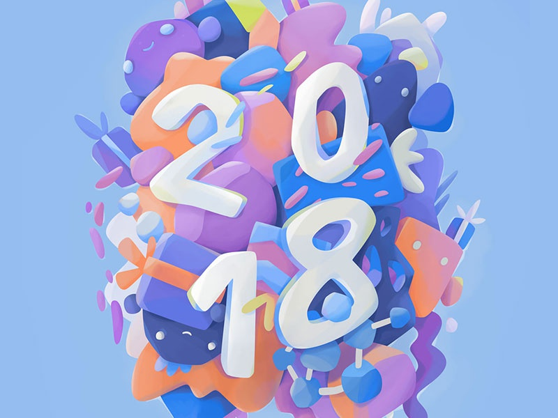 2018 type lettering print gift abstract 2018 illustration zutto