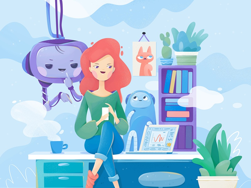 Chatbots chatbots characters vector illustration zutto