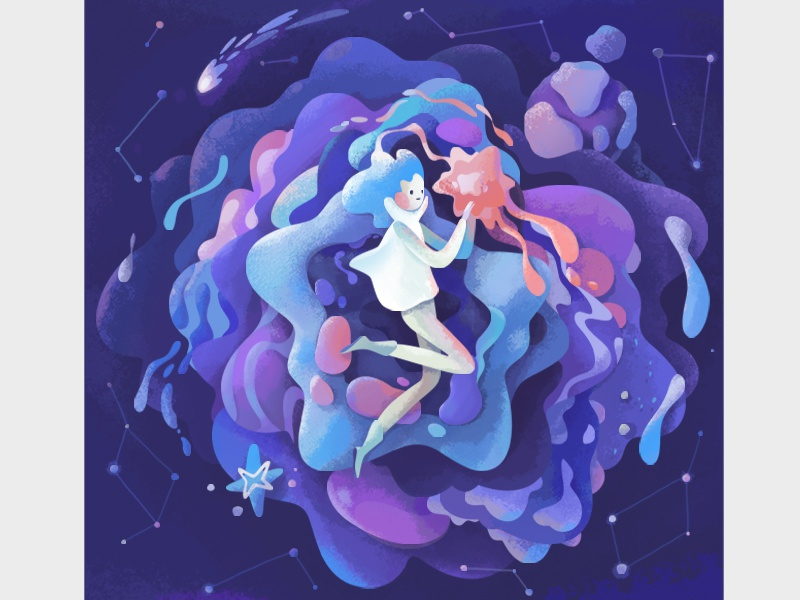 Space space abstract illustration zutto