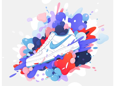💭Nike Air Force 1 concept💭 explosion design airforce1 nike ad illustration concept sneaker zutto