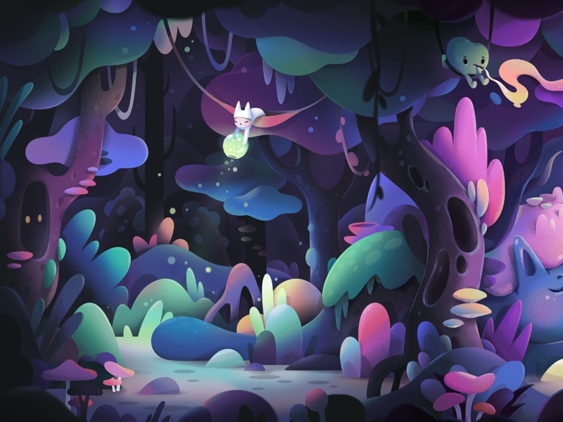 Game concept nature animation cartoon forest game game art concept character illustration zutto