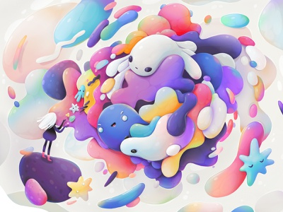 Evolution procreate character abstract illustration zutto