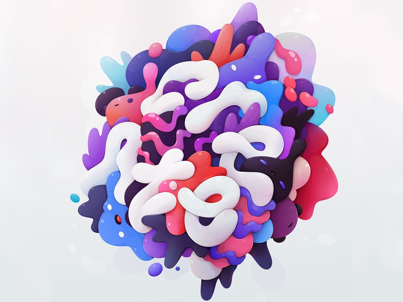 create lettering abstract vector illustration zutto