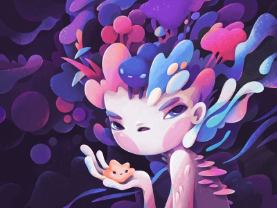 Spirits concept cartoon character abstract illustration zutto