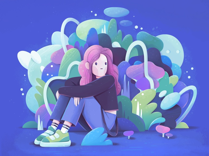 missing you concept character abstract illustration zutto