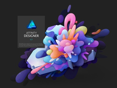 affinity designer splash screen typography branding logo design lettering abstract vector illustration zutto