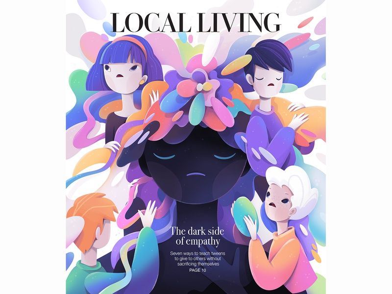 cover emotional design advertising cover lettering cartoon character abstract illustration zutto