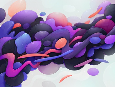 Shape design concept abstract vector illustration zutto