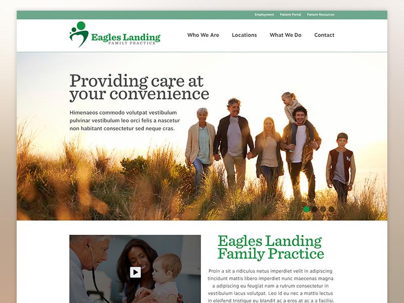 Eagles Landing Family Practice - Homepage WIP by Ryan White - Dribbble