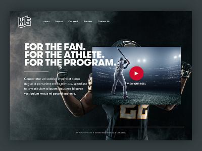 Home Team Studios Homepage Mockup