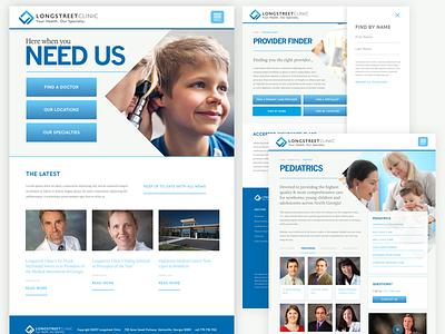 New Longstreet Clinic Website