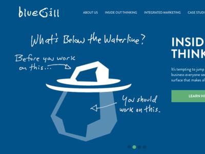 New Bluegill Creative Site