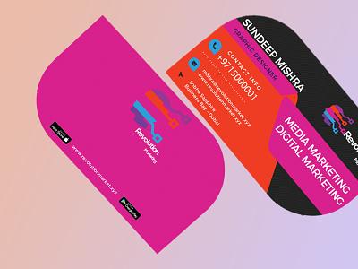 Half leaf Business cards ui branding design