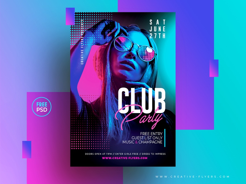 Free Psd Flyer Template free mockup neon lights neon nightclub club party night club free flyers illustration invitation psd party flyer poster creative photoshop graphic design flyer templates free download free psd
