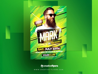 Photoshop Flyer Template dj concert flyer cards affiche posters artist dj flyer creative flyer illustration invites party flyer psd creative psd flyer graphic design photoshop flyer templates