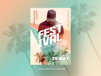 Festival Flyer Template - Adobe Photoshop flyer invitation psd creative party flyer poster psd flyer graphic design photoshop flyer templates festival