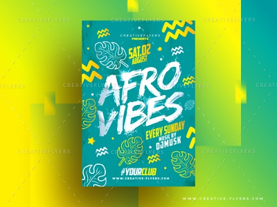 Afro Style Flyer Template invites wall art poster art creative download free design style flyer template flyer shape music photoshop illustration african afro
