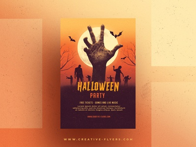 Halloween Flyer Template download psd romecreation flyer market graphics cards design zombie zombies photoshop psd flyer creative graphic design flyer templates halloween design halloween