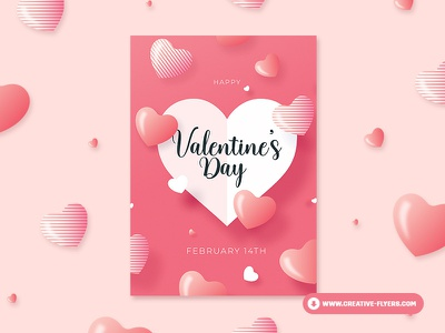 Valentines Card Invitation cards love valentine day valentine illustration flyer invites design party flyer poster creative graphic design photoshop flyer templates
