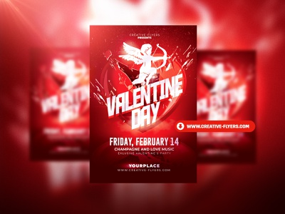 Valentine's Day Psd Flyer Template valentines day flyer love cards red cards love creative flyer psd flyer invitation party flyer poster graphic design creative photoshop flyer templates valentines day card valentines day valentine