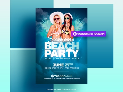 Summer Flyer Templates summer beach party flyer design invites party flyer poster psd flyer creative graphic design flyer templates photoshop psd psd photoshop summer flyer beach party