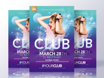 Club Party Flyer Template flyer templates template nightclub psd photoshop party graphic flyer design creativeflyers creative club