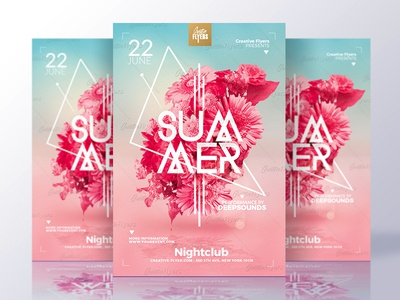 Summer Flyer Template psd  templates psd flyer flyer party flyer template flyers graphics design creative summer