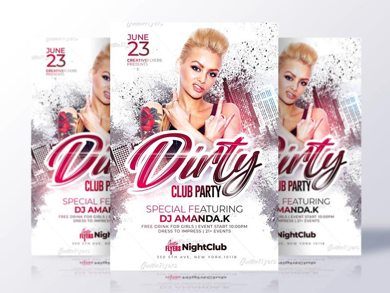 club party flyer template by rome creation dribbble dribbble