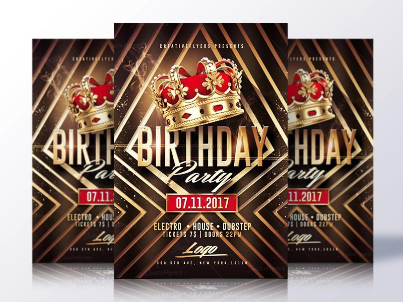 birthday party flyer template by rome creation dribbble dribbble
