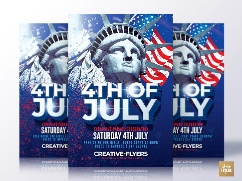 4th July Psd Flyer by Rome Creation on Dribbble