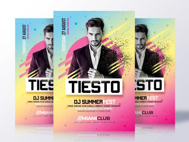 Summer Club Flyer Psd by Rome Creation on Dribbble