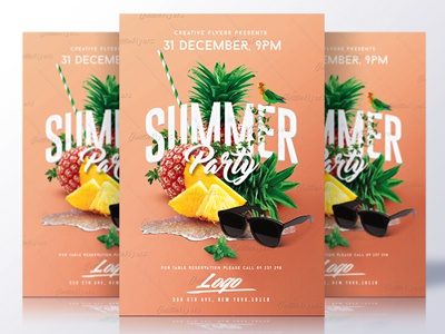 Summer Flyer Psd summer flyer psd flyer invitation psd summer poster psd templates flyer templates creative flyer summer psd flyer party