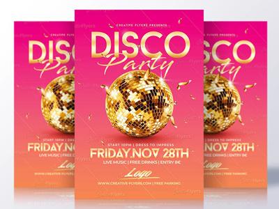 Disco Flyer Templates graphics design disco templates flyer party gold discoball summer flyer summer party flyer psd disco party flyer templates disco flyer
