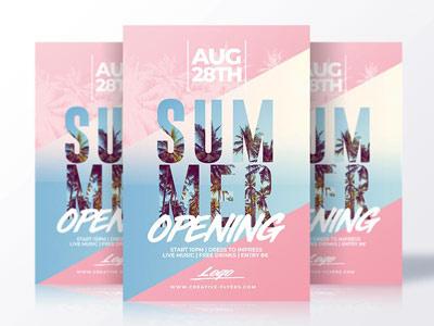 Summer flyer templates flyer party summer psd creative flyer flyer templates psd templates summer poster invitation psd psd flyer summer flyer