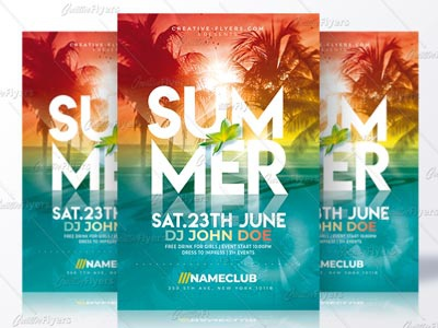 Summer Template summer flyer psd flyer invitation psd summer poster psd templates flyer templates creative flyer summer psd flyer party