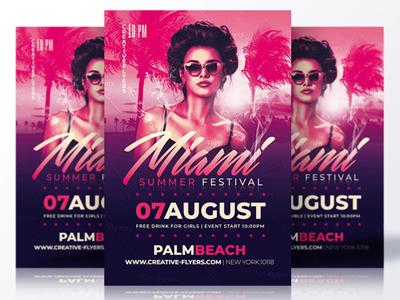 Miami Summer Festival Psd